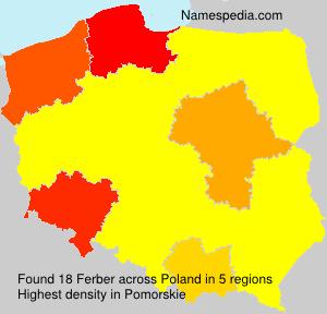 Familiennamen Ferber - Poland