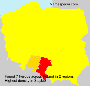 Surname Ferdus in Poland