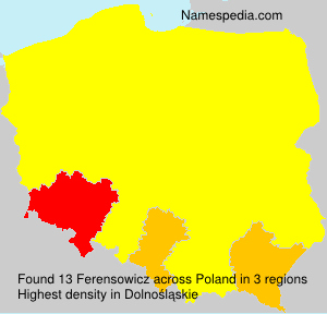 Surname Ferensowicz in Poland