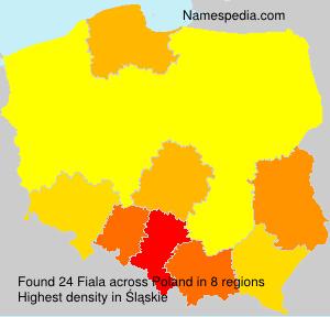 Surname Fiala in Poland