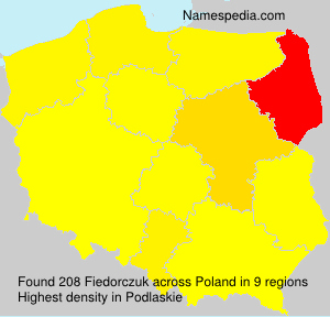 Surname Fiedorczuk in Poland