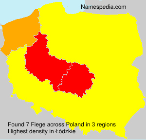 Surname Fiege in Poland