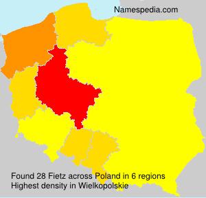 Surname Fietz in Poland