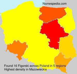Familiennamen Figorski - Poland