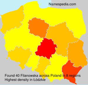 Familiennamen Filanowska - Poland