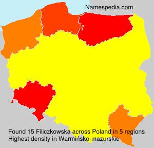 Surname Filiczkowska in Poland