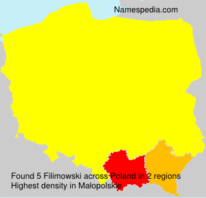 Surname Filimowski in Poland
