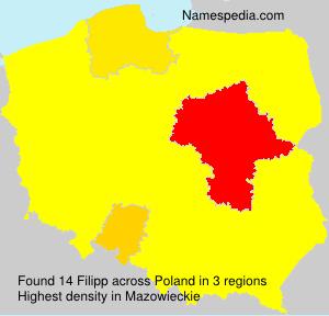 Familiennamen Filipp - Poland
