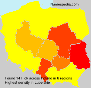 Surname Fiok in Poland