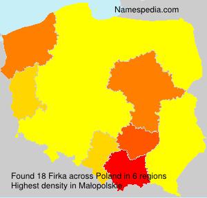 Surname Firka in Poland