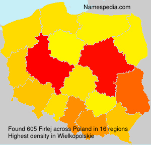 Surname Firlej in Poland