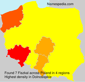 Surname Fiszkal in Poland