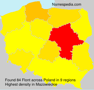 Surname Flont in Poland