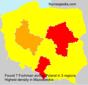 Surname Fochman in Poland