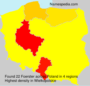 Surname Foerster in Poland
