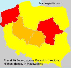 Familiennamen Foland - Poland