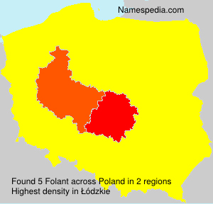 Surname Folant in Poland