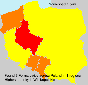 Familiennamen Formalewicz - Poland
