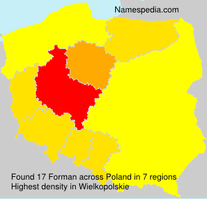 Surname Forman in Poland
