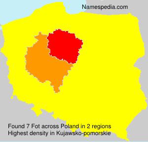 Familiennamen Fot - Poland