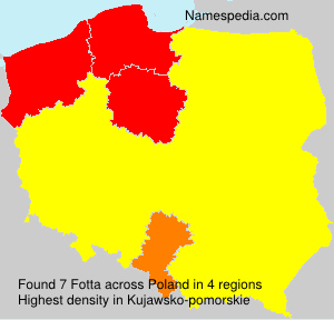 Surname Fotta in Poland