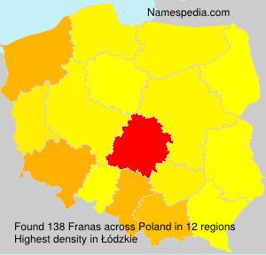 Familiennamen Franas - Poland