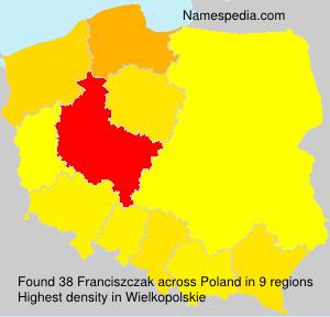 Familiennamen Franciszczak - Poland