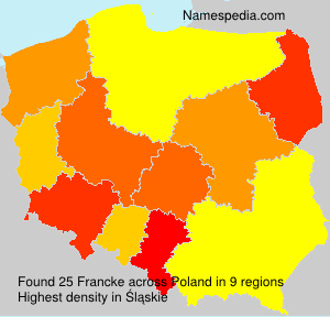 Surname Francke in Poland