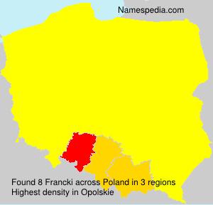 Surname Francki in Poland