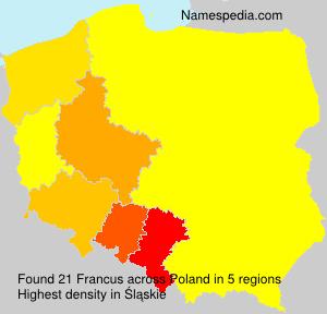 Familiennamen Francus - Poland