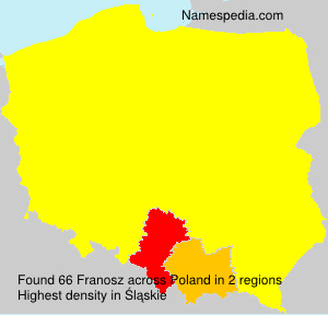Surname Franosz in Poland