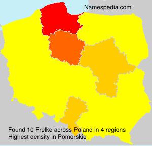 Surname Frelke in Poland