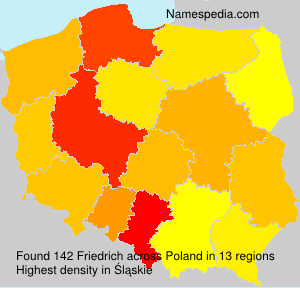 Surname Friedrich in Poland