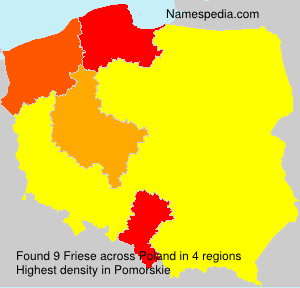 Surname Friese in Poland