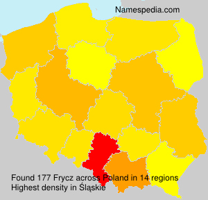 Surname Frycz in Poland