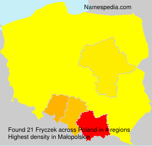 Surname Fryczek in Poland