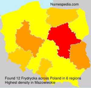 Surname Frydrycka in Poland