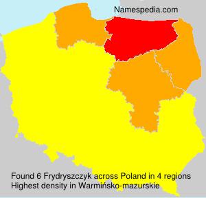 Surname Frydryszczyk in Poland