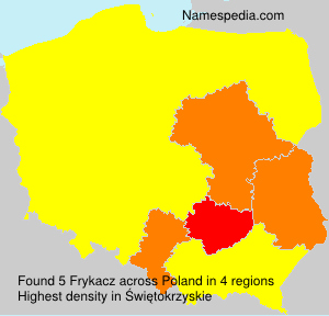 Familiennamen Frykacz - Poland