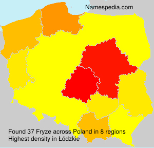 Surname Fryze in Poland