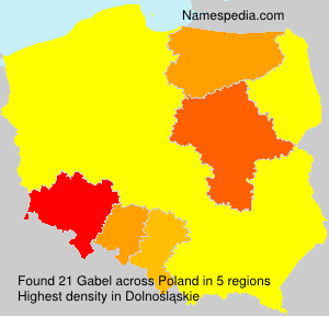 Surname Gabel in Poland