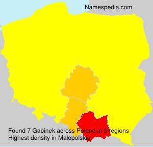 Familiennamen Gabinek - Poland