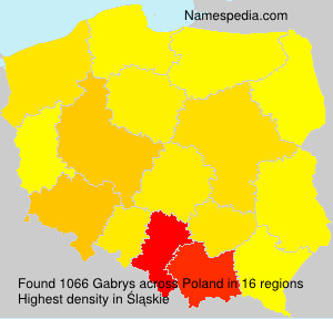 Surname Gabrys in Poland