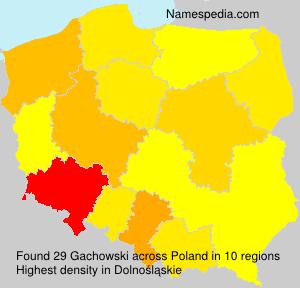Surname Gachowski in Poland