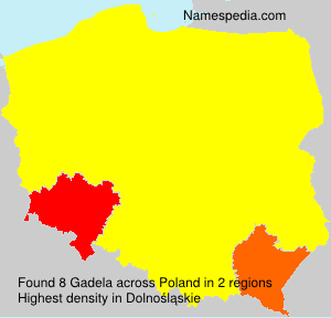 Surname Gadela in Poland