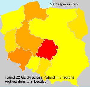 Surname Gaicki in Poland
