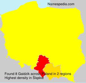 Surname Gaidzik in Poland