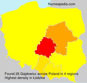 Familiennamen Gajdowicz - Poland