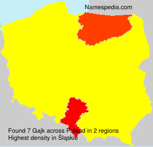 Surname Gajk in Poland