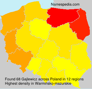 Surname Gajlewicz in Poland